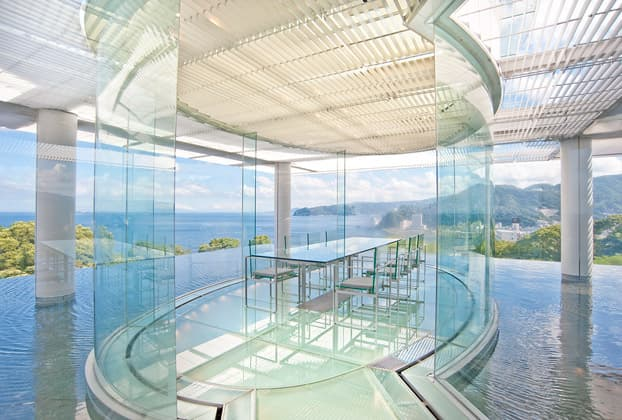 Atami Kaihourou - The water and glass ryokan designed by Kengo Kuma